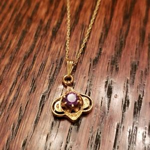 Vintage Gold and Amethyst Necklace